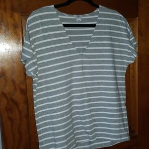 J Crew striped tee w/ruffle sleeve